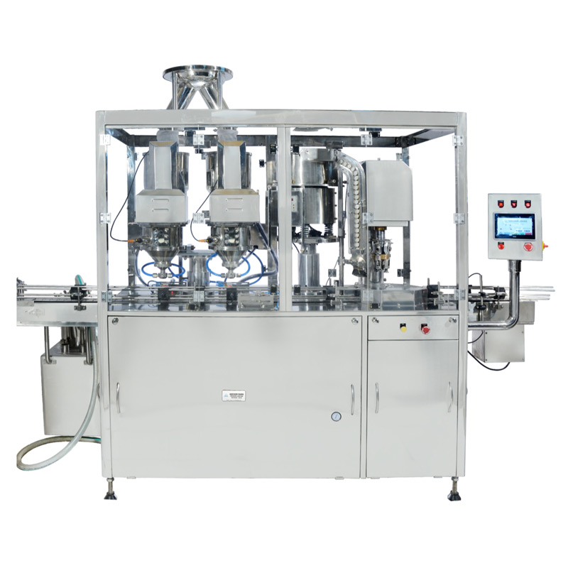 Automatic Dry Powder Filling Machine  with Capping and Sealing Arrangement