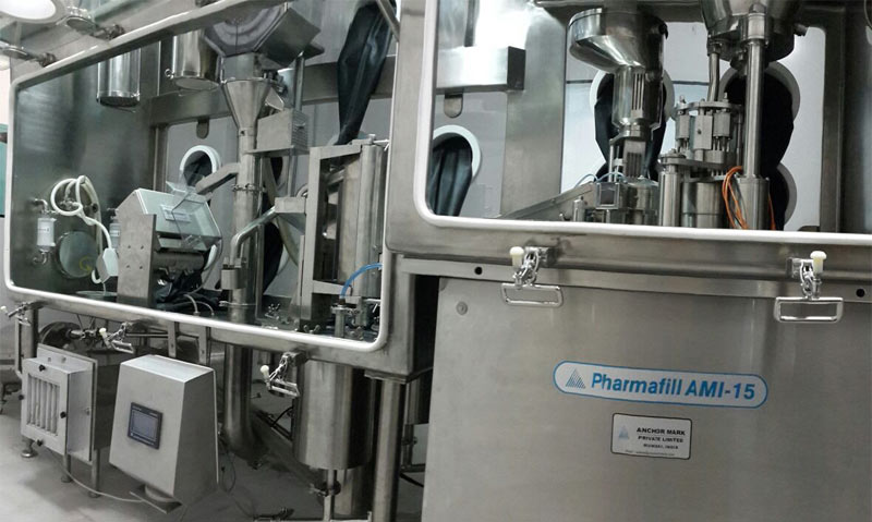 Isolator Compatible Automatic Capsule Filling Line - AMI-15