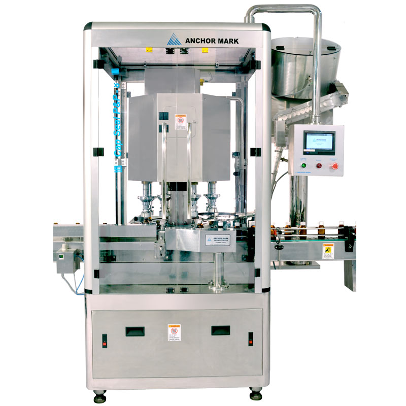 Automatic Rotary Cap Sealing Machine with Pick and Place Arrangement